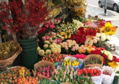 negozio che vende bouquet di fiori