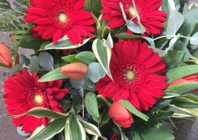 composizione di fiori rossi